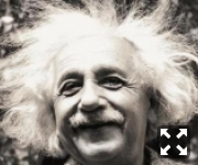 Альберт Энштейн растрепан